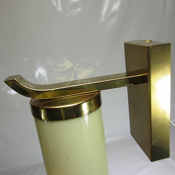 art deco wandlampe 40 50er jahre messing wandleuchte bauhaus tubus glasschirm ebay. Black Bedroom Furniture Sets. Home Design Ideas