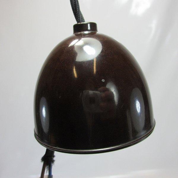 art deco emailleschirm lampe mit bakelit halterung und e27 drehschalter fassung ebay. Black Bedroom Furniture Sets. Home Design Ideas