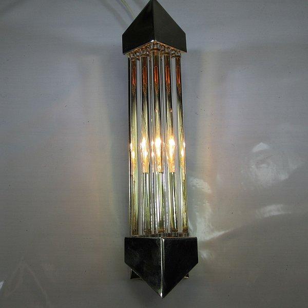 art deco retro stil wandlampe vintage wandleuchte 10mm glasst be flurlampe ebay. Black Bedroom Furniture Sets. Home Design Ideas