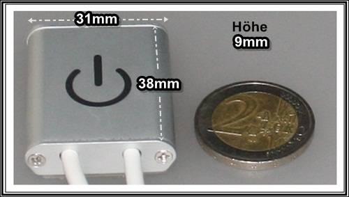 led sensor touch dimmer ber hrungssensor minidimmer ein aus schalter alu stripe ebay. Black Bedroom Furniture Sets. Home Design Ideas