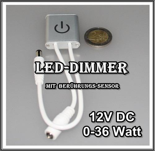 led sensor touch dimmer ber hrungssensor minidimmer ein aus schalter alu stripe ebay. Black Bedroom Furniture Sets. Home Design Ideas