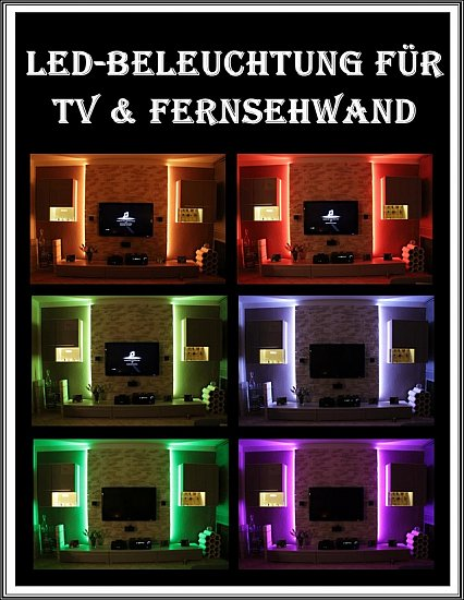 set indirekte led beleuchtung plasma lcd fernseher fernsehschrank fernsehwand ebay. Black Bedroom Furniture Sets. Home Design Ideas