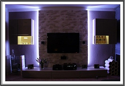 set indirect led lighting plasma lcd tv television cabinet tv wall ebay. Black Bedroom Furniture Sets. Home Design Ideas