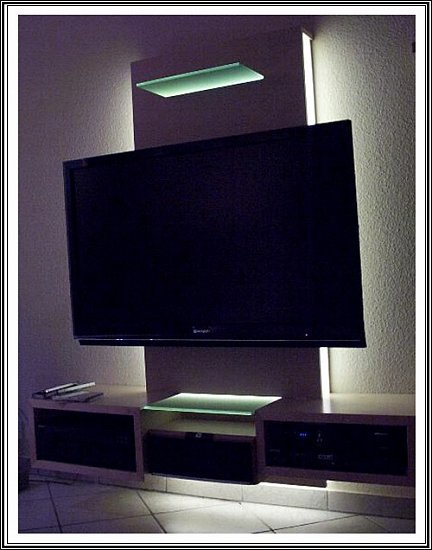 set indirekte led beleuchtung plasma lcd fernseher fernsehschrank fernsehwand ebay. Black Bedroom Furniture Sets. Home Design Ideas