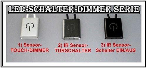 led sensor touch dimmer schalter t rschalter ein aus ir minischalter stripe mini ebay. Black Bedroom Furniture Sets. Home Design Ideas