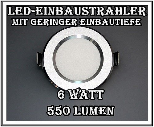led einbaustrahler minispot einbauleuchte spot mini einbau set 1w 12w power alu. Black Bedroom Furniture Sets. Home Design Ideas
