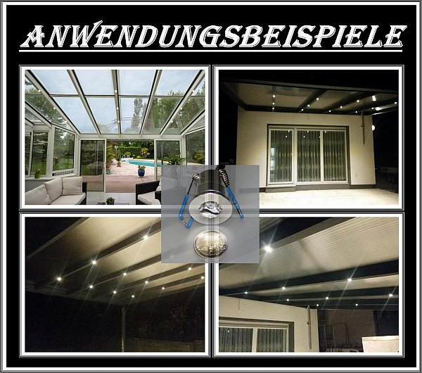 set led terrassenbeleuchtung minispot terrasse carport beleuchtung dimmbar spot ebay. Black Bedroom Furniture Sets. Home Design Ideas