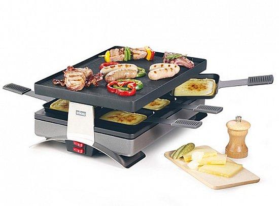 st ckli party pizza grill mit wendeplatte f r crepes und pizza raclette pfannen ebay. Black Bedroom Furniture Sets. Home Design Ideas