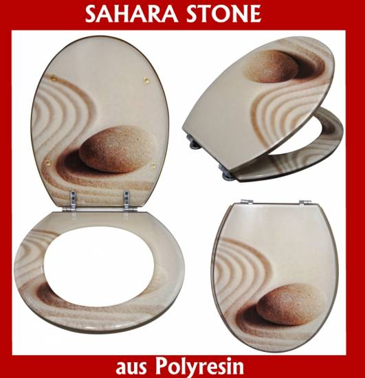wc sitz toilettendeckel toilettensitz deckel polyresin acryl sahara stone ws33 ebay. Black Bedroom Furniture Sets. Home Design Ideas