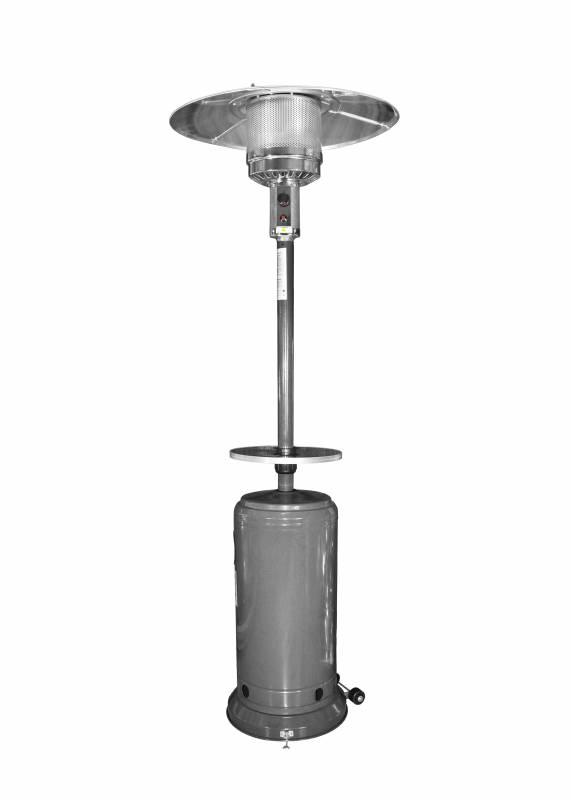 gas heizstrahler heizpilz terrassen heizer strahler mit tisch plane dark gray ebay. Black Bedroom Furniture Sets. Home Design Ideas