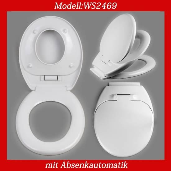 kinder wc sitz toilettendeckel toilettensitz absenkautomatik family wei ws69 ebay. Black Bedroom Furniture Sets. Home Design Ideas