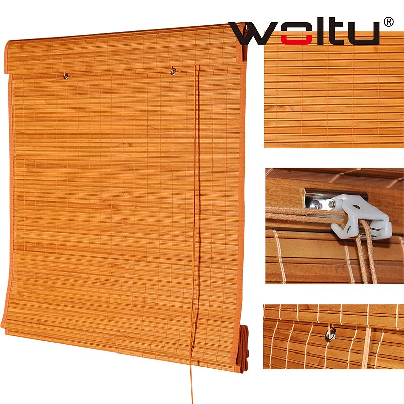 raffrollo holz holzjalousie rollo gardine lichtschutz vorhang raffrollo aus holz ebay. Black Bedroom Furniture Sets. Home Design Ideas