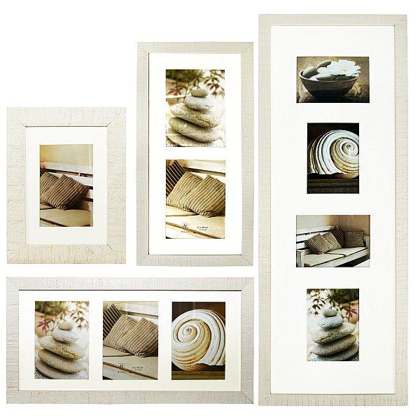 bilderrahmen bildergalerie fotorahmen holz 1 2 3 4 bilder 4 farben collage 132 ebay. Black Bedroom Furniture Sets. Home Design Ideas