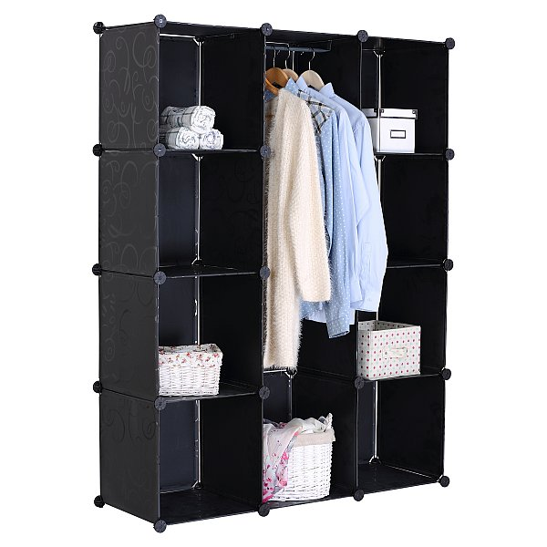 kleiderschrank mit regal flexa aufbewahrungsm bel schr nke b cherregale. Black Bedroom Furniture Sets. Home Design Ideas