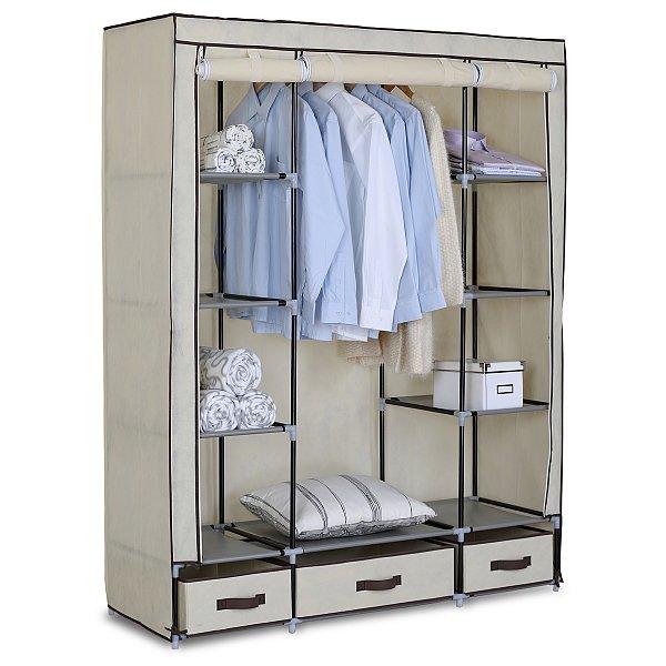 kleiderschrank garderobenschrank stoffschrank faltschrank campingschrank 173 ebay. Black Bedroom Furniture Sets. Home Design Ideas