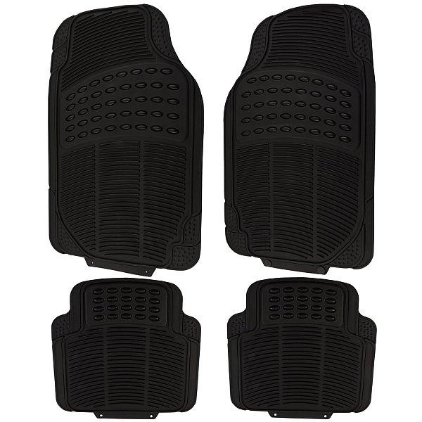 universal auto fu matten gummimatten gummi matten set schwarz 7145 ebay. Black Bedroom Furniture Sets. Home Design Ideas