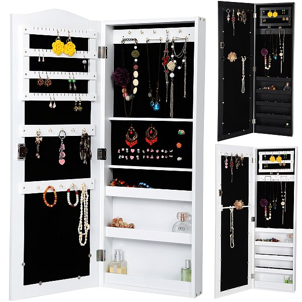 spiegel schmuckschrank wandspiegel schmuckkasten wandschrank spiegelschrank 193 ebay. Black Bedroom Furniture Sets. Home Design Ideas