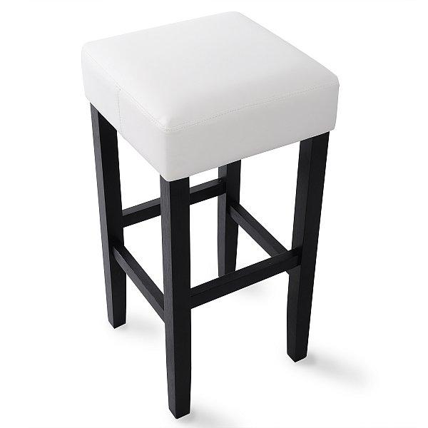 4 x barhocker bar stuhl tresen hocker holz gepolstert kunstleder wei bh22ws 4 ebay. Black Bedroom Furniture Sets. Home Design Ideas
