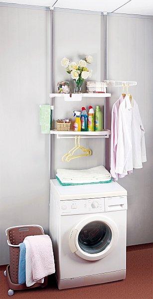 teleskopregal badregal waschmaschine regal mit ablagen wc. Black Bedroom Furniture Sets. Home Design Ideas