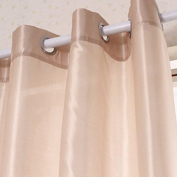 gardine vorhang mit sen fensterschal senschal halbtransparent beige vh5508bg ebay. Black Bedroom Furniture Sets. Home Design Ideas