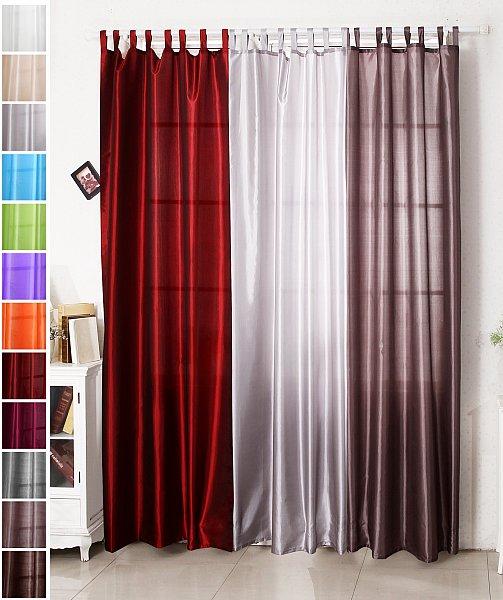 gardine vorhang mit schlaufen fensterschal halbtransparent brombeere vh5509bo ebay. Black Bedroom Furniture Sets. Home Design Ideas