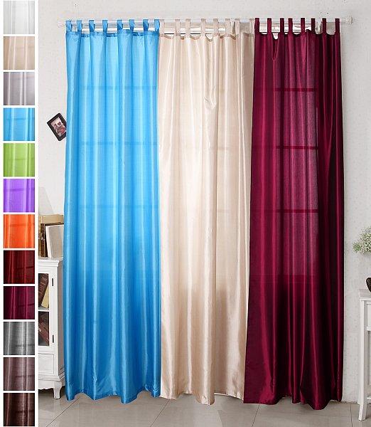 gardine vorhang mit schlaufen schlaufenschal schal halbtransparent orange vh5483 ebay. Black Bedroom Furniture Sets. Home Design Ideas