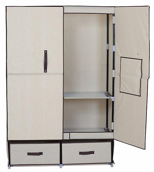 stoff textil kleiderschrank schuhschrank mit fl gelt r faltschrank 281 ebay. Black Bedroom Furniture Sets. Home Design Ideas
