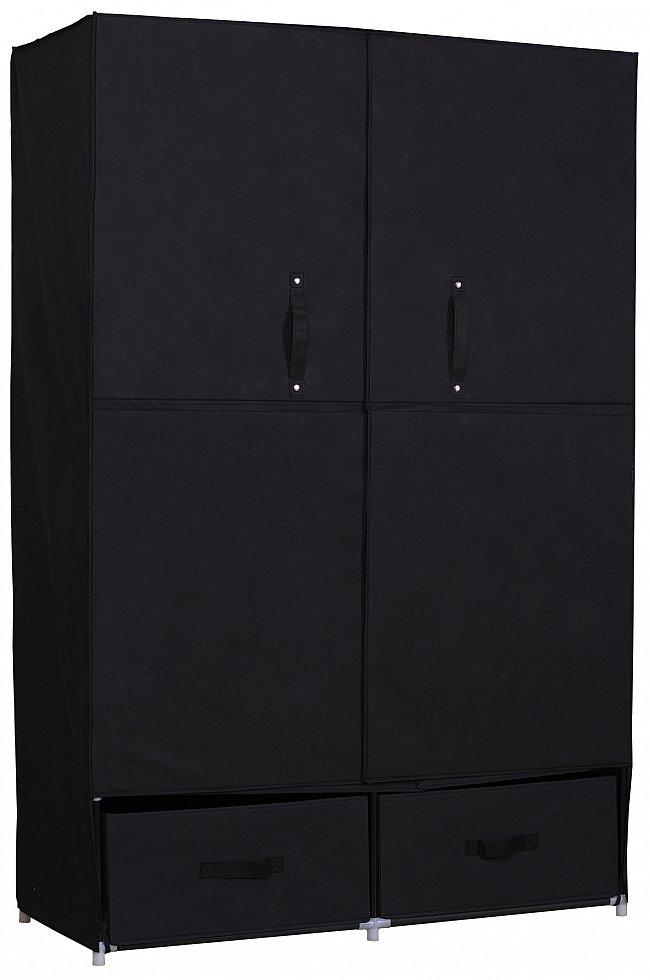 kleiderschrank schuhschrank stoff textil mit fl gelt r faltschrank 281 ebay. Black Bedroom Furniture Sets. Home Design Ideas