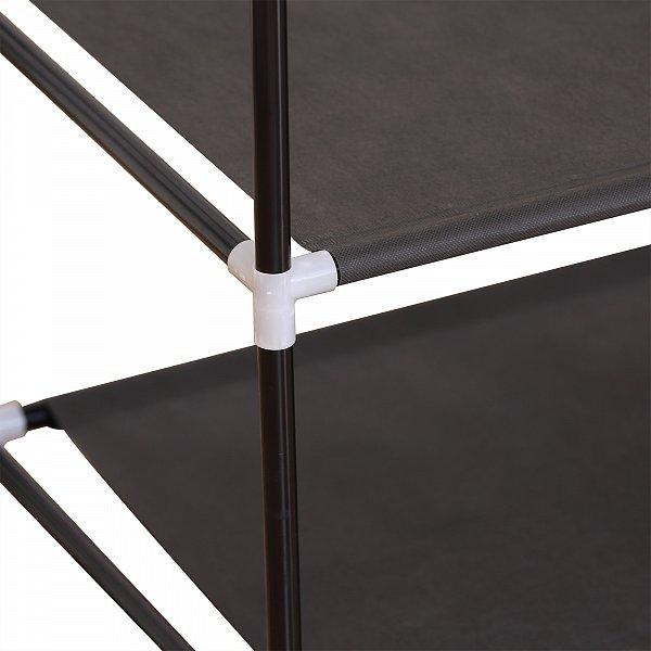 stoffschrank stoff textil schuhschrank mit fl gelt r faltschrank grau ss5021gr ebay. Black Bedroom Furniture Sets. Home Design Ideas