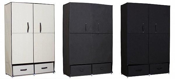 kleiderschrank stoff textil faltschrank schrank mit. Black Bedroom Furniture Sets. Home Design Ideas