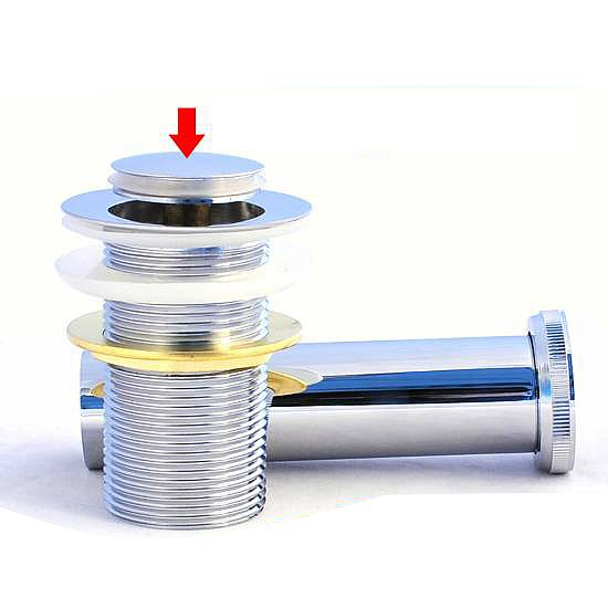 ablaufgarnitur ablaufventil waschbecken stöpsel pop up abfluss ... - Abflussstopfen Küche