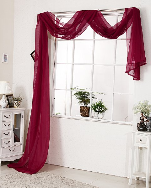 querbehang raumteiler bergardinen gardinen vorh nge fensterschal voile 306 ebay. Black Bedroom Furniture Sets. Home Design Ideas