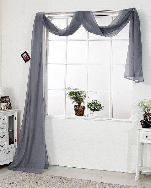 Querbehang gardine vorhang bergardinen dekoschal 140x600 for Fenster querbehang