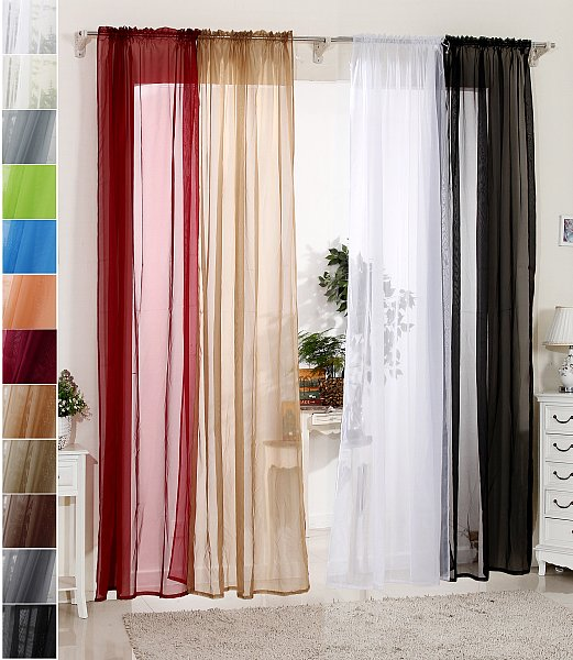 vorhang gardine dekoschal mit kr uselband transparent 140x175cm wei vh5516ws ebay. Black Bedroom Furniture Sets. Home Design Ideas