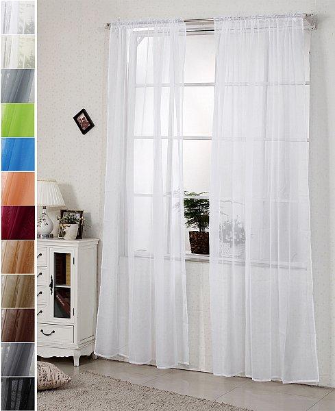 gardine vorh nge mit kr uselband transparent dekoschal. Black Bedroom Furniture Sets. Home Design Ideas