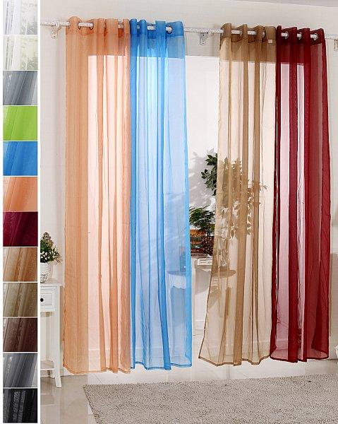 gardine senschal transparent vorhang mit sen 140x225 wei vh5513ws ebay. Black Bedroom Furniture Sets. Home Design Ideas