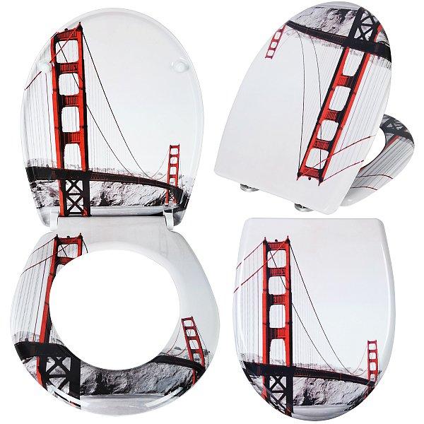 toilettensitz toilettendeckel klodeckel wc sitz deckel mit absenkautomatik 27 ebay. Black Bedroom Furniture Sets. Home Design Ideas