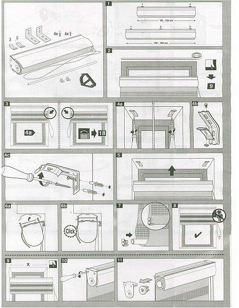 duo rollo mit kassette doppelrollo kassettenrollo variorollo kettenzugrollo 326 ebay. Black Bedroom Furniture Sets. Home Design Ideas
