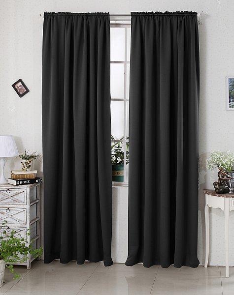 gardine vorhang blickdicht kr uselband thermogardine verdunkelungsgardine 330. Black Bedroom Furniture Sets. Home Design Ideas