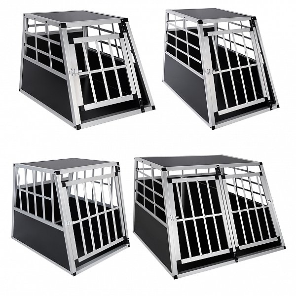 chien cage voiture cage de chien chenil en aluminium de tansport avec porte f074. Black Bedroom Furniture Sets. Home Design Ideas