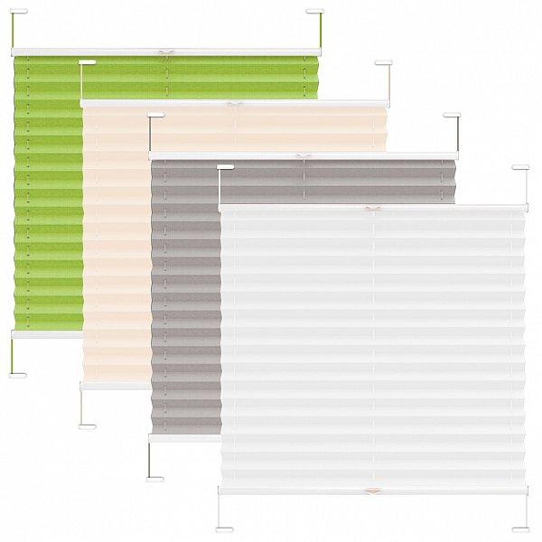 plissee klemmfix ohne bohren faltrollo rolljalousie verdunklungsrollo rollo 325 ebay. Black Bedroom Furniture Sets. Home Design Ideas