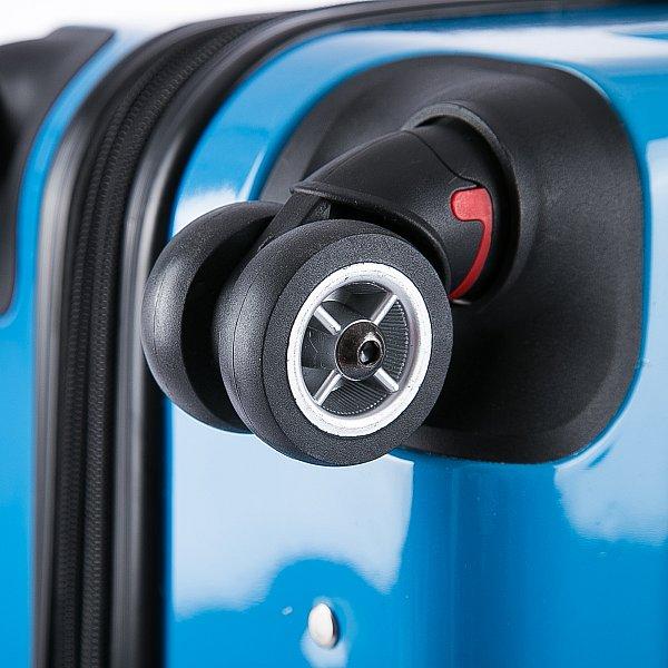 reisekoffer hartschalenkoffer trolley handgep ck mit 4 rollen blau m rk4212bl m ebay. Black Bedroom Furniture Sets. Home Design Ideas