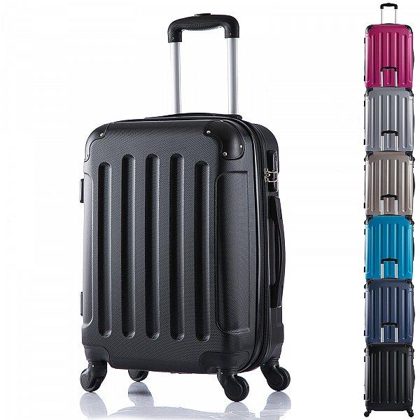 reisekoffer trolley hartschalen reise koffer mit 4 rollen schwarz l rk4204sz l ebay. Black Bedroom Furniture Sets. Home Design Ideas