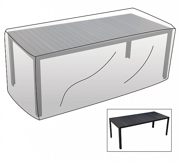 Top Schutzhülle Abdeckhaube für Gartentisch rechteckig Plane  XE26
