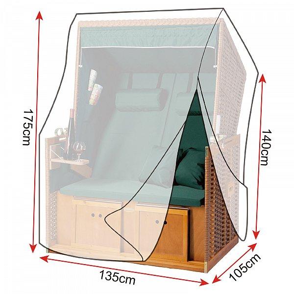 schutzh lle abdeckhaube f r strandkorb abdeckplane plane transparent gz1200tp ebay. Black Bedroom Furniture Sets. Home Design Ideas