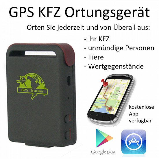 gps gsm gprs tracker kfz ortung mit smartphone oder pc sender peilsender. Black Bedroom Furniture Sets. Home Design Ideas
