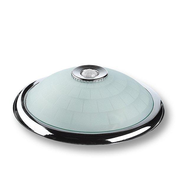 sensor deckenleuchte chrom mit 2 x 3w led lampen 360. Black Bedroom Furniture Sets. Home Design Ideas