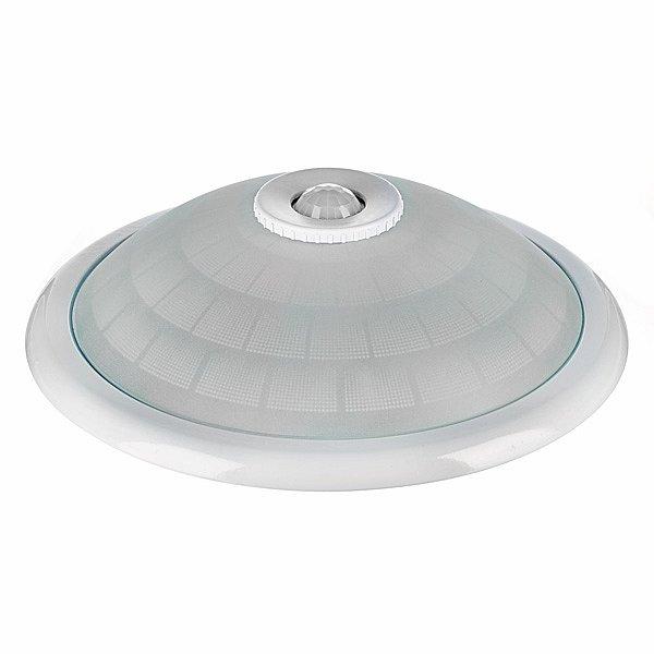 sensor deckenleuchte 2 x led lampen 360 bewegungsmelder deckenlampe stahl glas. Black Bedroom Furniture Sets. Home Design Ideas