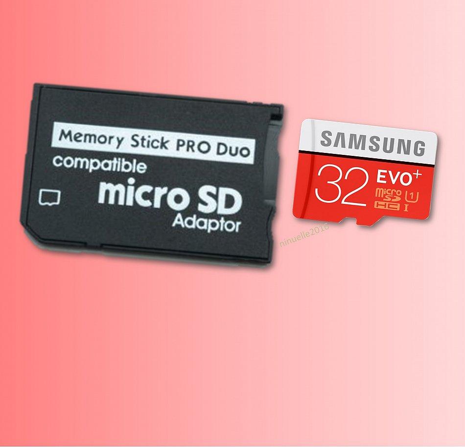 memory stick pro duo adattatore 32 gb micro sd scheda di. Black Bedroom Furniture Sets. Home Design Ideas