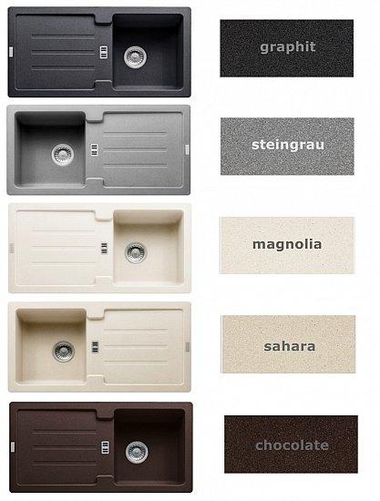 franke fragranit sp le 86 x 43 5 granit 5 farb granitsp le einbausp le k che ebay. Black Bedroom Furniture Sets. Home Design Ideas